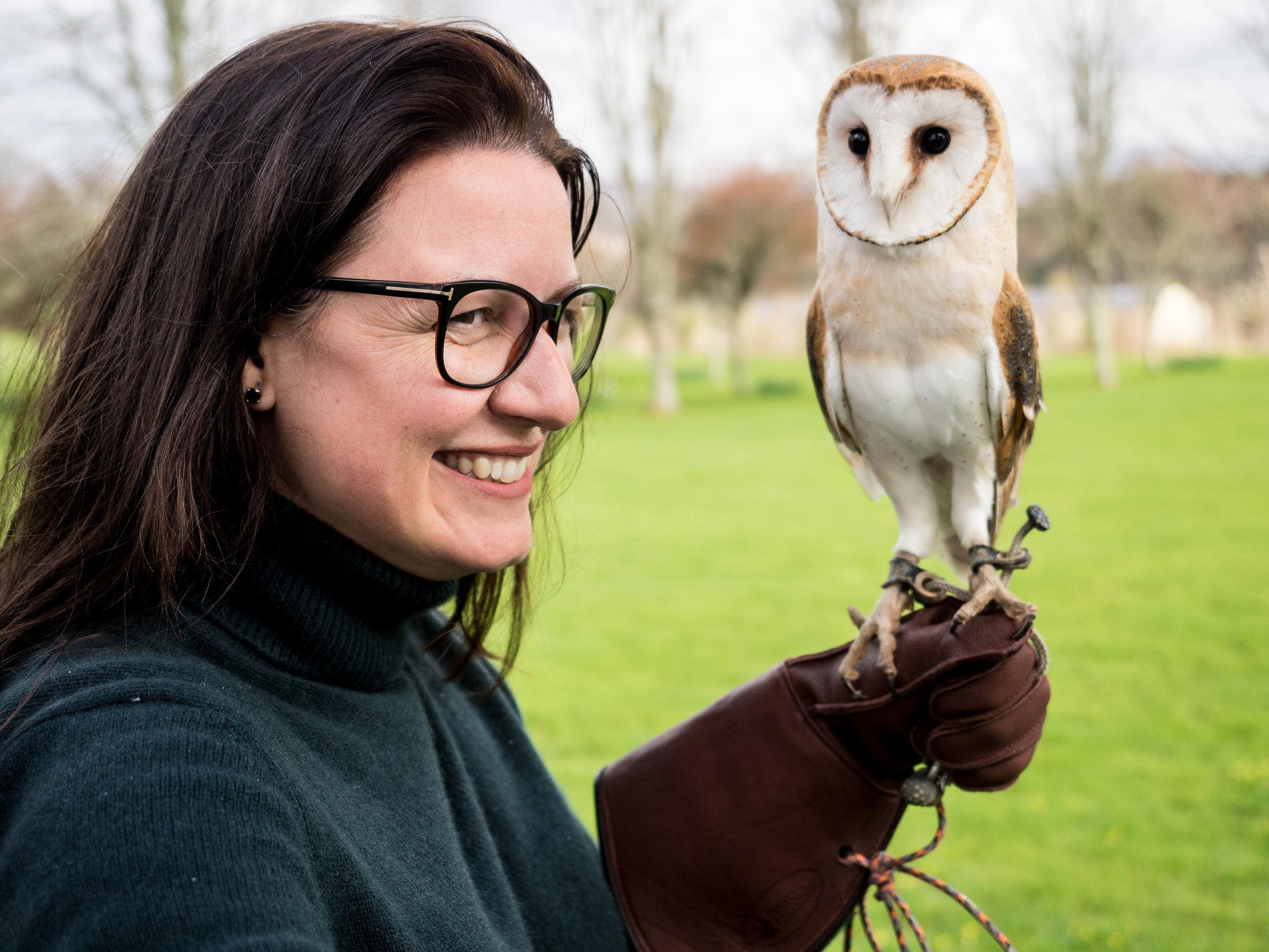 Kat and an owl 2018.jpg