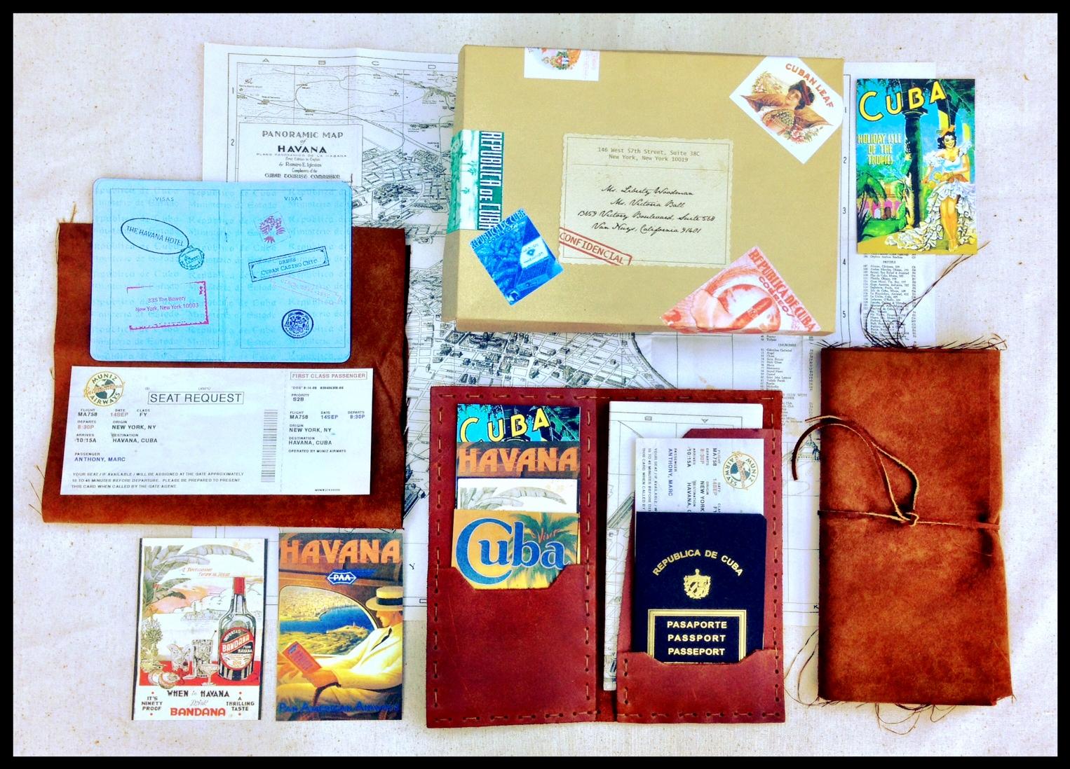 001. Album cover - Marc Anthony borthday, Havana nights, custom inviations, passport invitations, plane ticket invitation, custom leather travel wallet.JPG