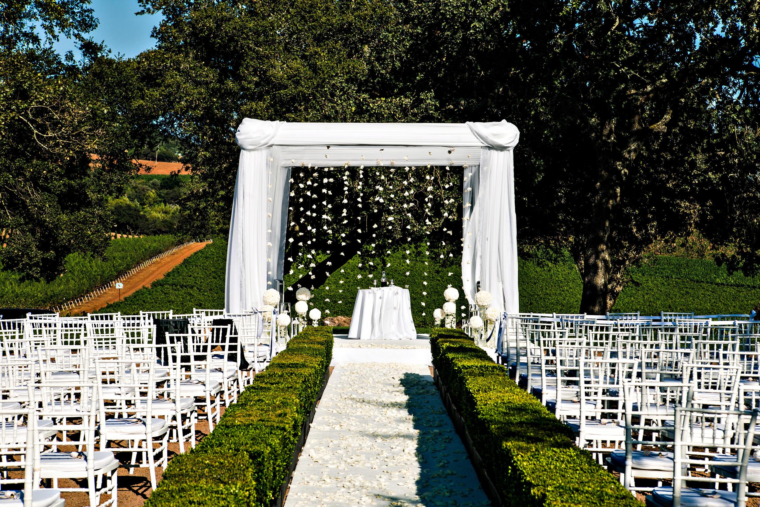 04. chuppah, hanging flowers, hanging gardenias, napa wedding, vineyard wedding.jpg