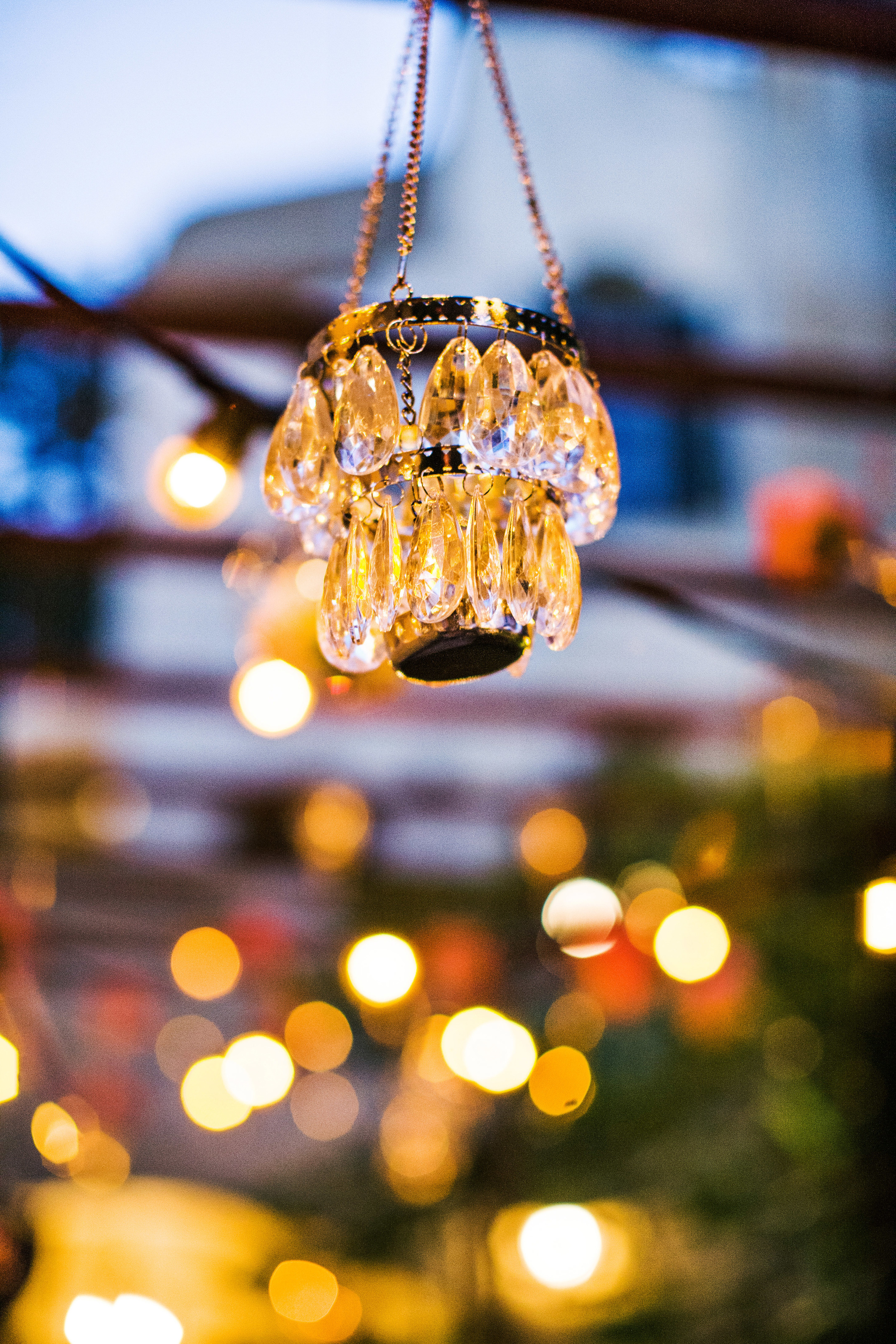 26. RS - hanging flowers, summer wedding, peach & coral wedding, napa wedding, crystal chandalier candles, hanging candles.jpg
