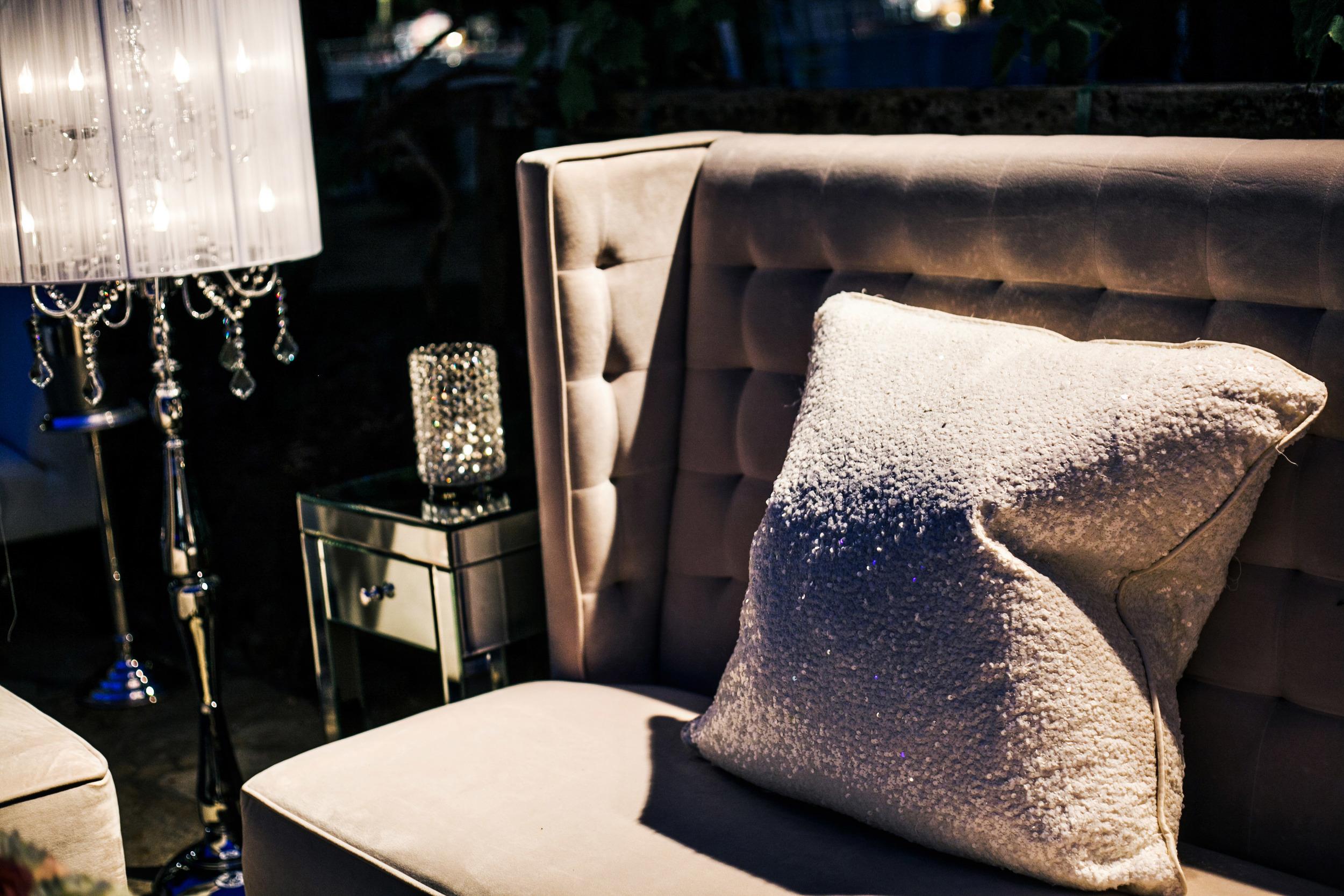 31. modern wedding lounge, sequin pillows, crystal lamps, summer wedding, ivory & white wedding lounge.jpg