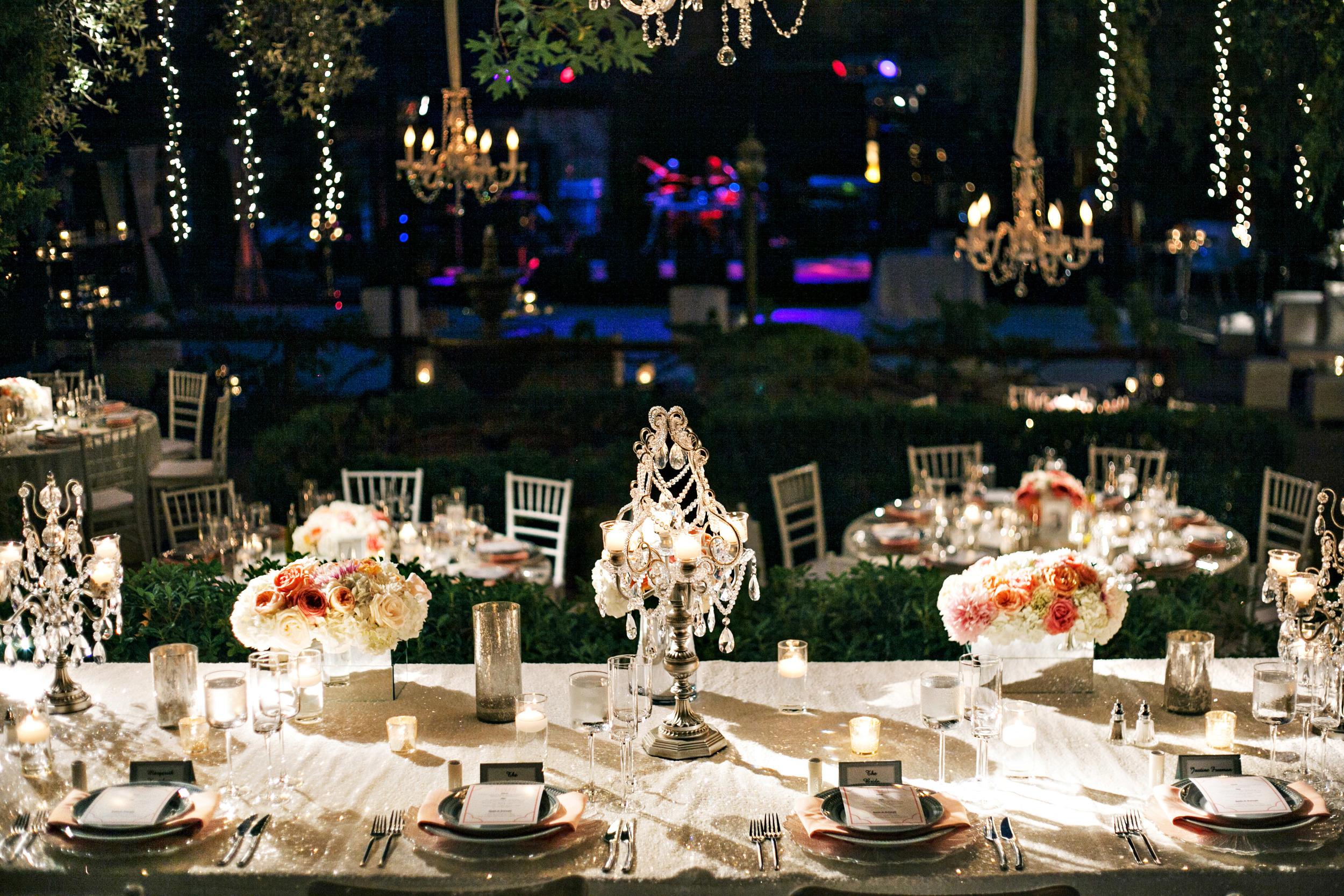 40.  hanging fairy lights, wedding chandaliers, modern romantic wedding, peach & coral wedding, summer wedding, goregous wedding decor.jpg