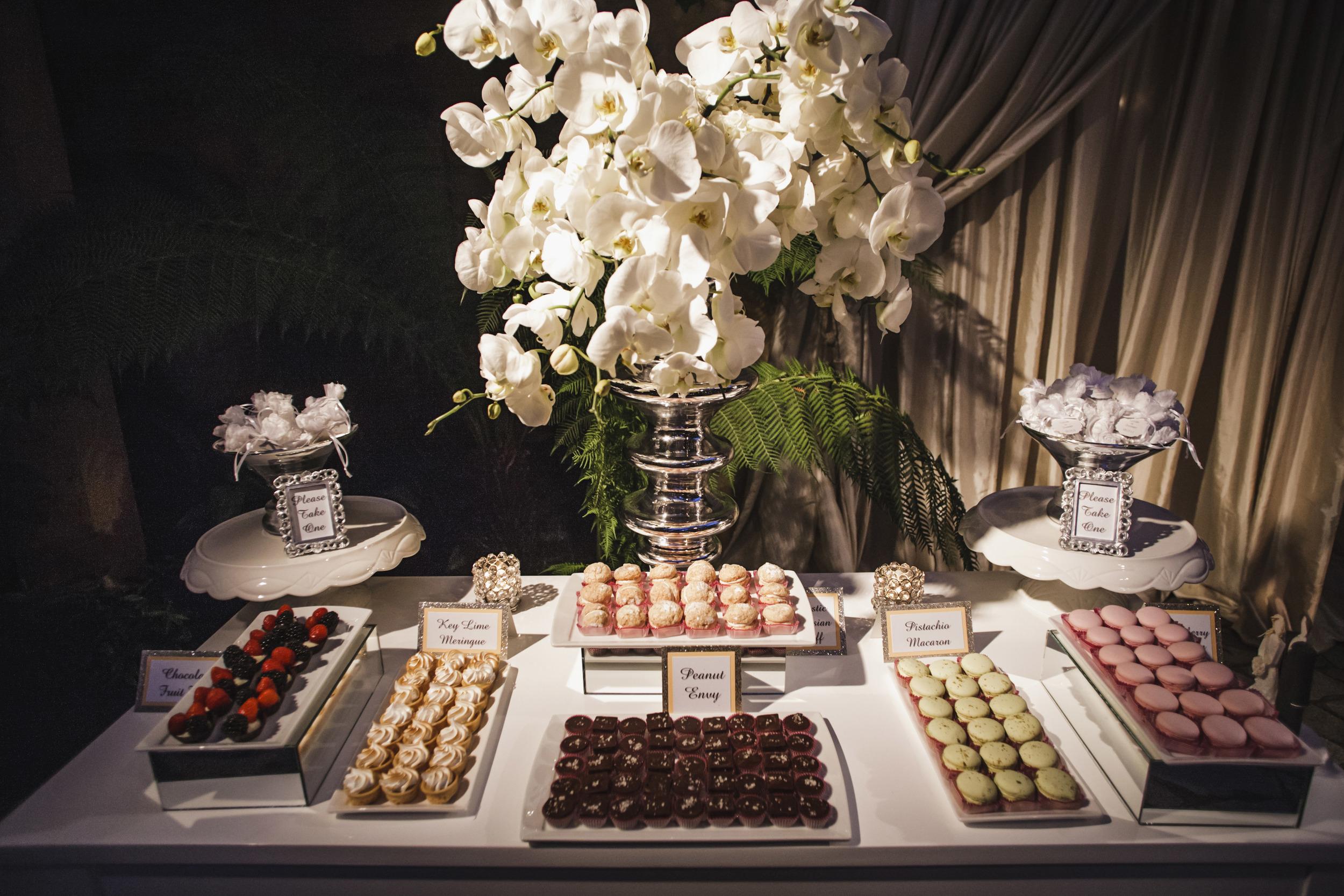 51. dessert bar display, wedding dessert buffet, modern romantic wedding, summer wedding, gorgeous dessert display, sparkle wedding, modern wedding .jpg