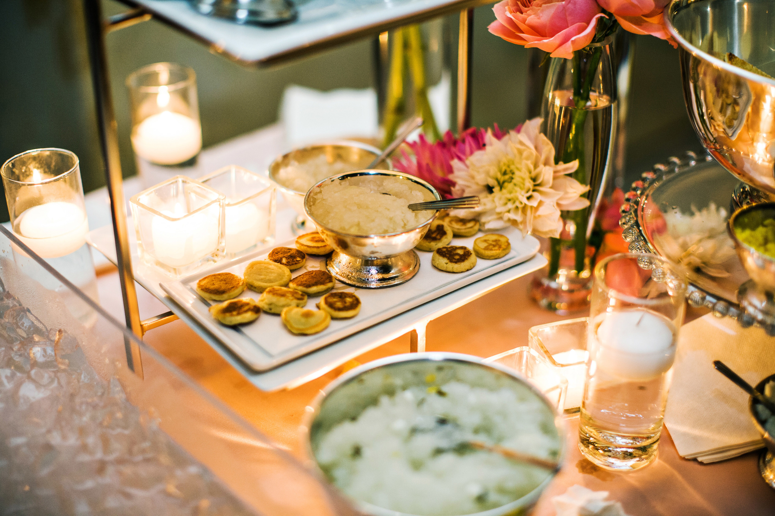 50. Caviar bar, wedding cocktail hour ideas, seafood buffet, ice scupltures & caviar, summer wedding, custom ice sculptures.jpg