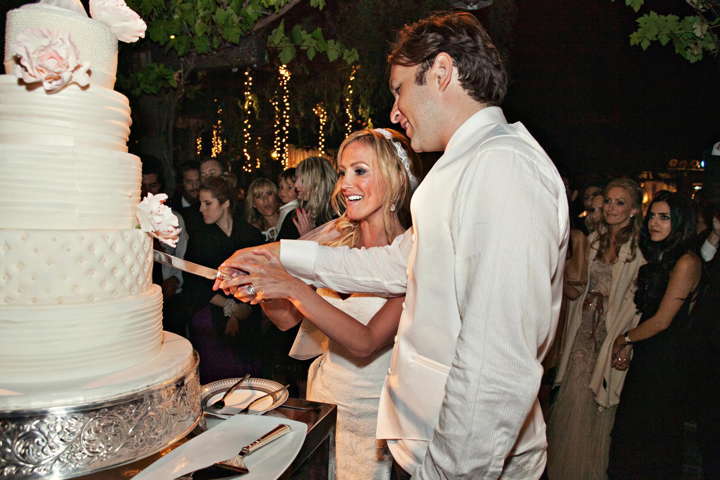 57. modern+romantic wedding cake,  white+ruffle + tufted+pearl+ rouching wedding cake, hanging fairy lights, sparkle wedding, summer wedding ideas .jpg