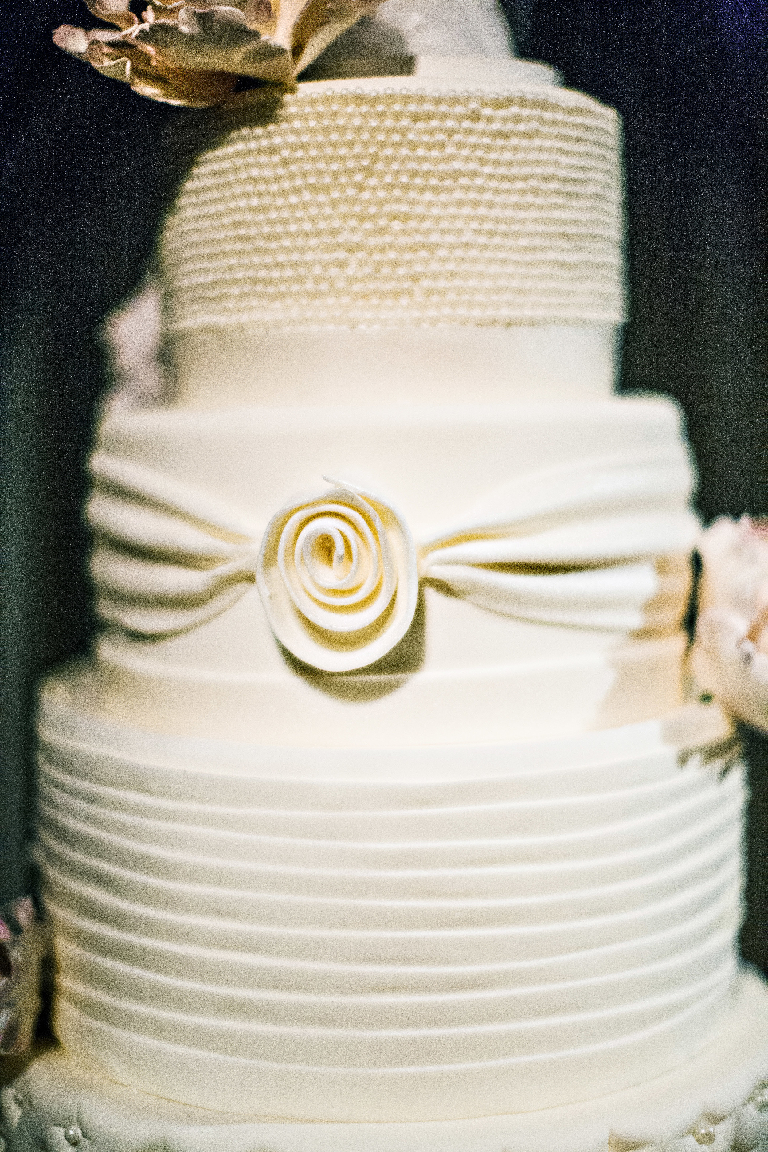 56. RS - modern+romantic wedding cake,  white+ruffle + tufted+pearl+ rouching wedding cake, summer wedding cakes, gorgeous wedding cakes.jpg