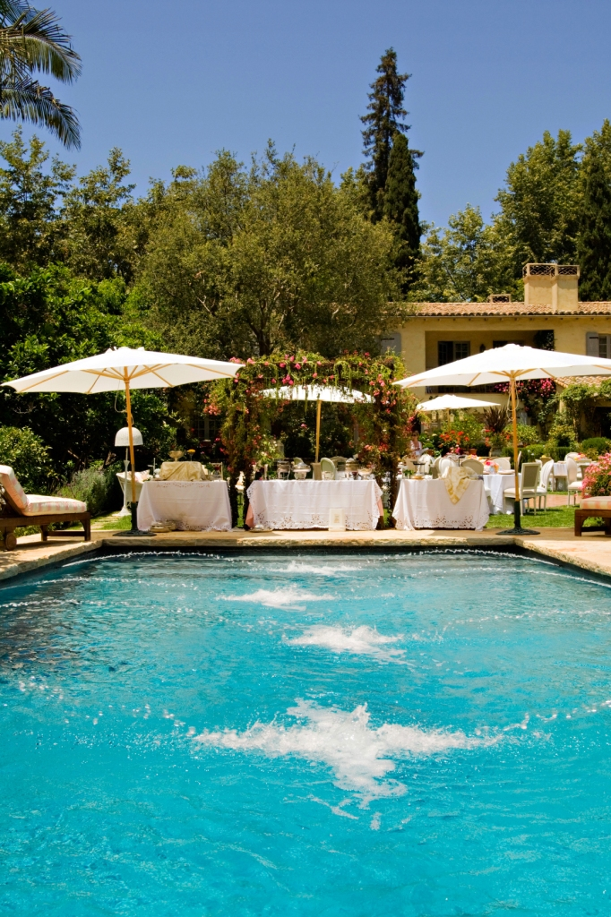 16. left side-shabby chic garden party, buffet overlooking pool, pool fountains, lush greenery.jpg