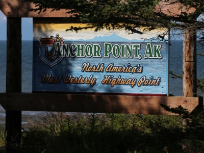 twored has been to anchor point, the most westerly highway point