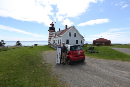 twored at west quoddy head, the easternmost highway point