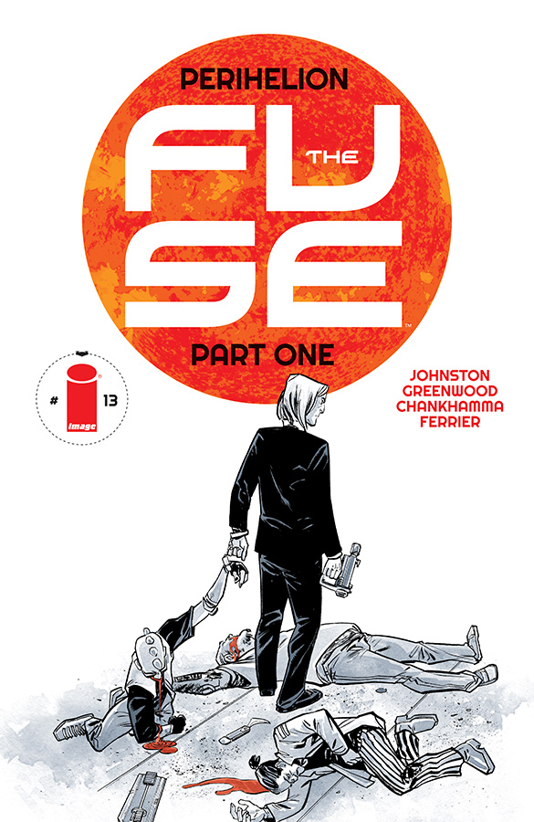"antonyjohnston :       PRE-ORDER THE FUSE #13: ""PERIHELION"" PART ONE     THE FUSE returns in August!  It's the start of Vol 3 in our sci-fi cops series, and for this one we're going to do something a bit different.     Perihelion   is the day of the year when the earth — and therefore the Fuse, too — is closest to the sun. And on that day, everyone in orbit goes a little… crazy. All leave is cancelled. All shifts are combined. All hell breaks loose!    So for this story, instead of following Ristovych & Dietrich solve a single case over the course of several days, we'll follow a single day, filled with several cases — including murder, but also much more besides :)    Oh, and as you can see, we have a new cover style to go with the new story. It's going to be pretty awesome.    THE FUSE #13 • ON SALE AUG 5 FROM IMAGE COMICS • PRE-ORDER IT NOW, ORDER CODE JUN150501"