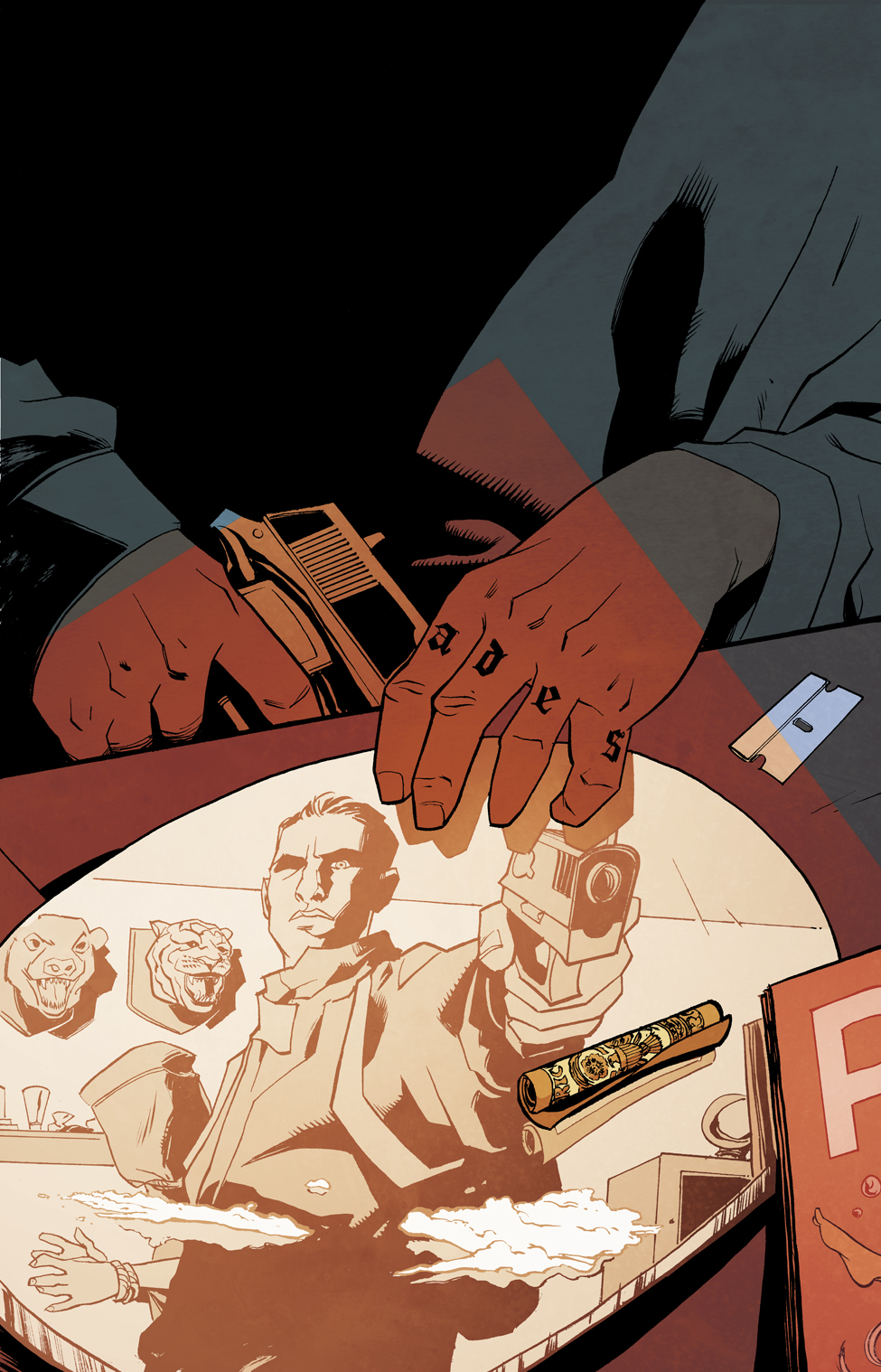 danieljlogan :     #ThrowbackThursday    ryanklindsay :      Ghost Town #3 In July Solicitations       Ghost Town #3 is in the July Previews catalogue. The action thriller title by Daniel J Logan and me…      View Post        Hey, cool! I always liked this cover a lot- whoajordie  killed it with the colors, really sharpened up the design with how she laid down that red.