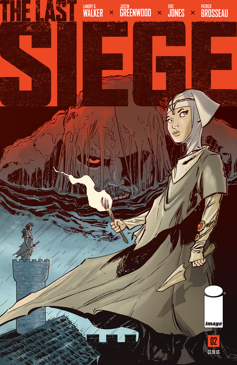 THE LAST SIEGE #2 Main Cover by Justin Greenwood and Brad Simpson