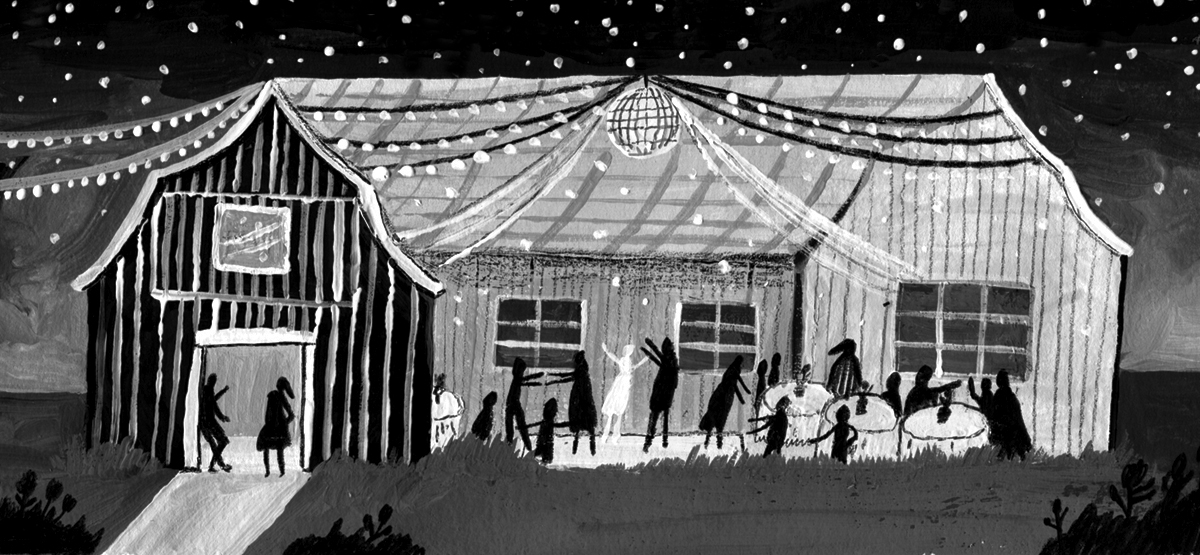 Illustration about barn weddings for the Op-Ed section of the New York TImes. Thanks AD Nathan Huang (2014)