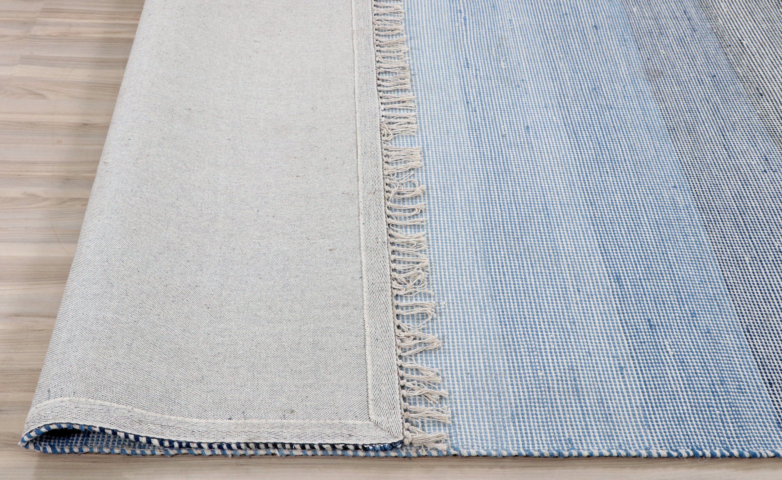 Ombre Blue Hand Woven Wool Rug Hamptons At Home