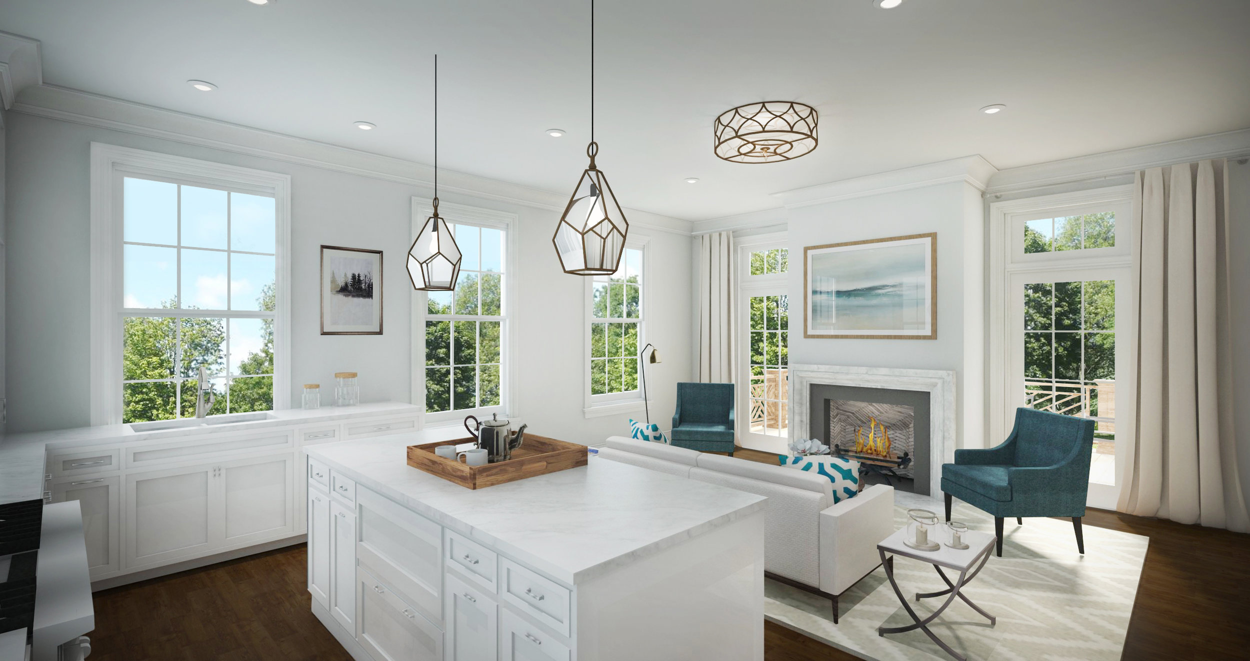 Beacon Place - Lake Forest Kitchen Render