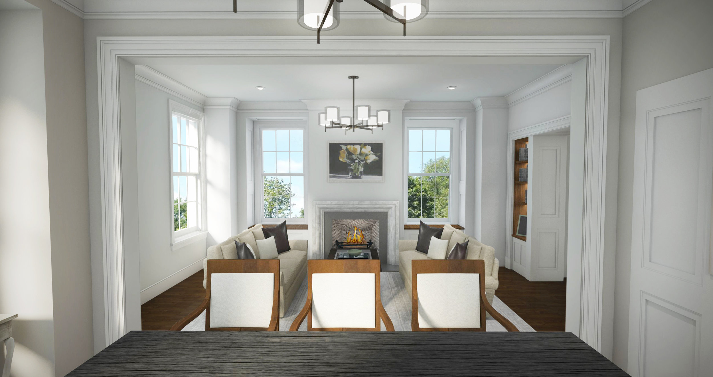 Beacon Place - Lake Forest Living Room