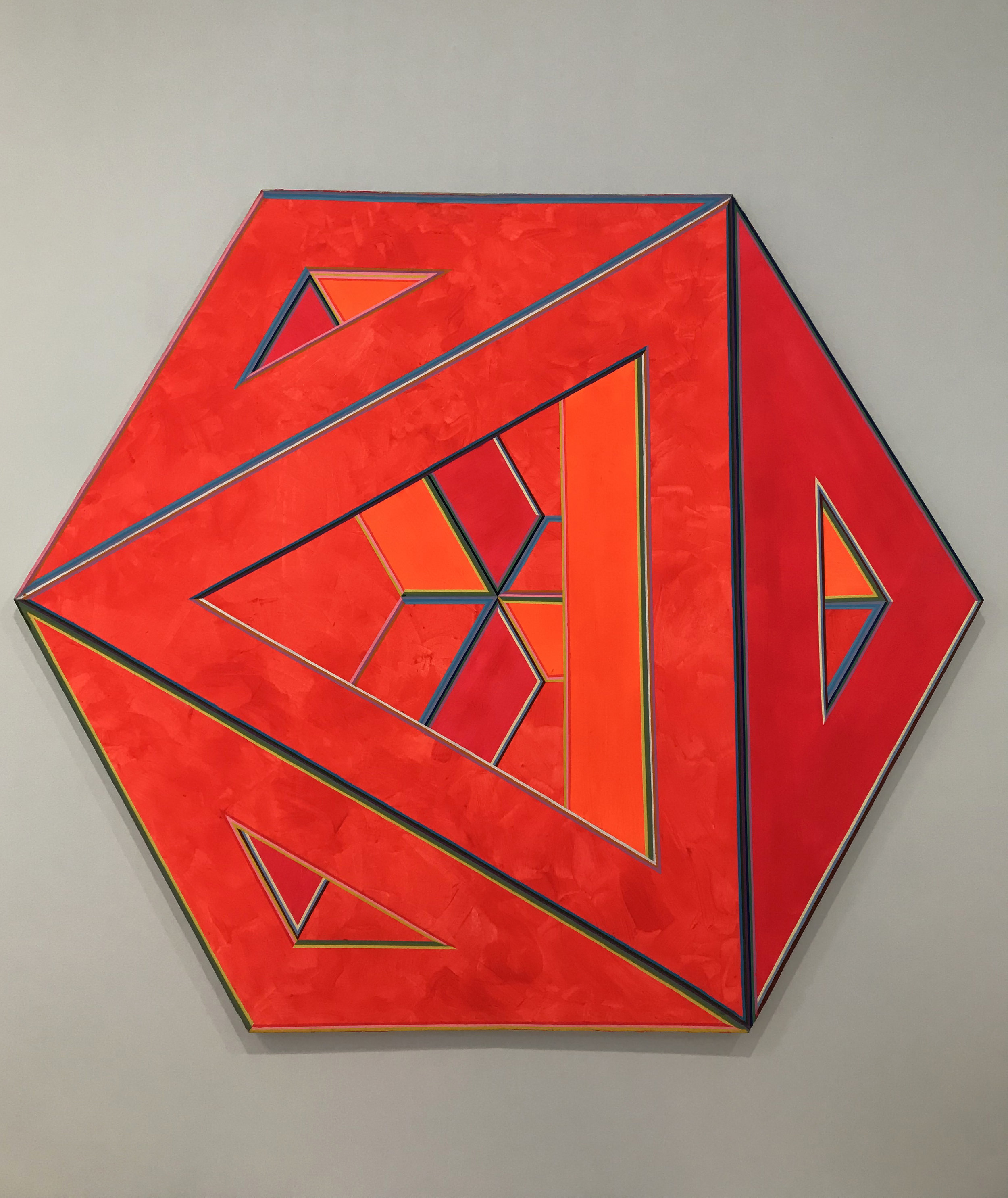 'Septehedron 34' by Alvin Loving, 1970. Acrylic on shaped canvas.