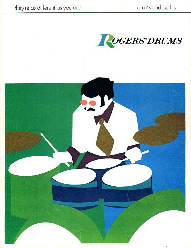 Rogers Drums catalogue cover, 1970