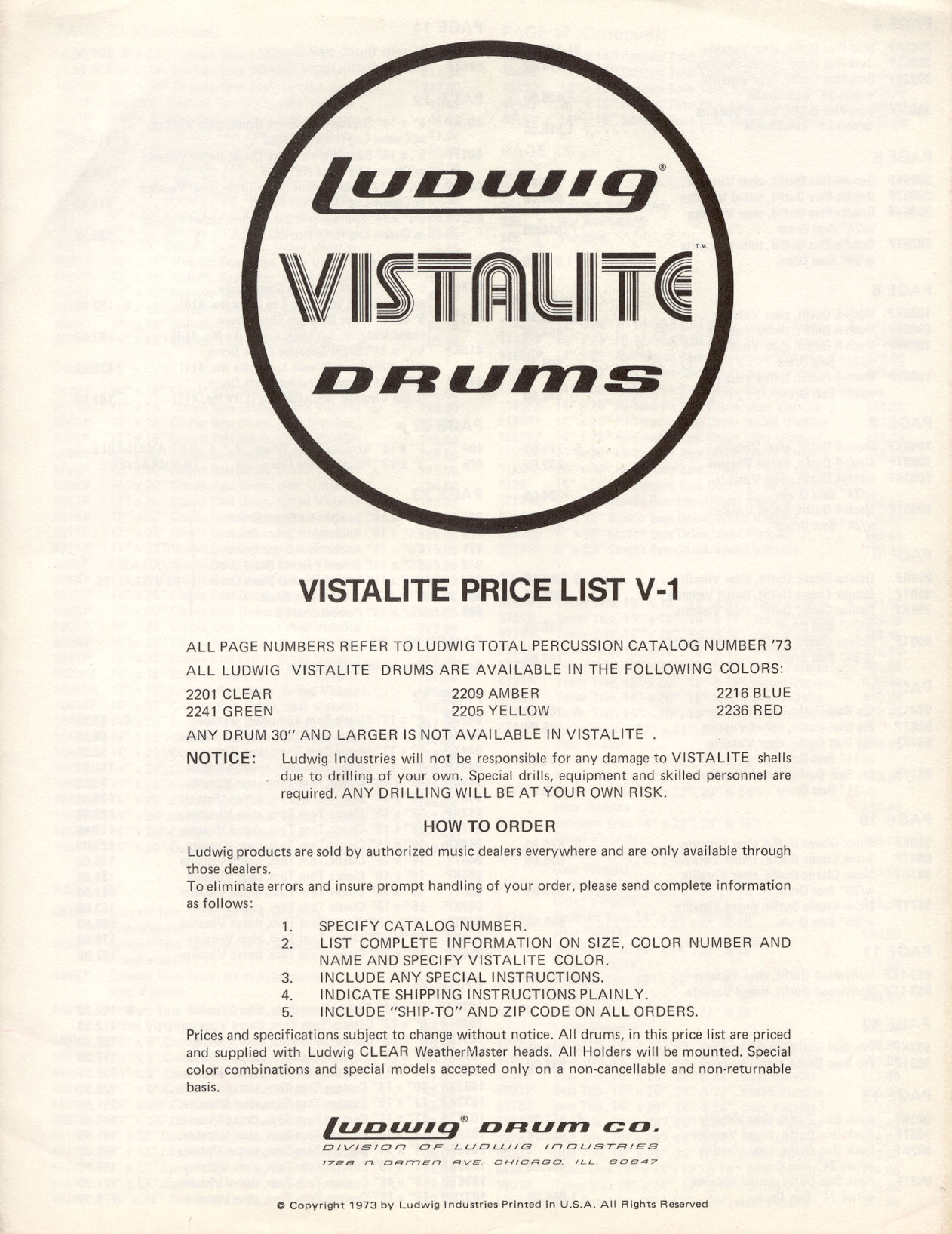 The Ludwig Vistalite logo, 1973 - is it a form of the Stripes font?