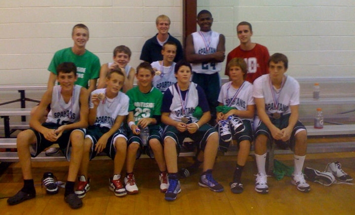 The first ever Northside Spartan team. Team members are now college sophomores and juniors!