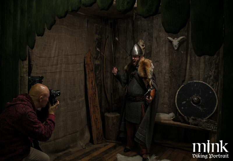 Get your Viking portrait taken at Mink studios