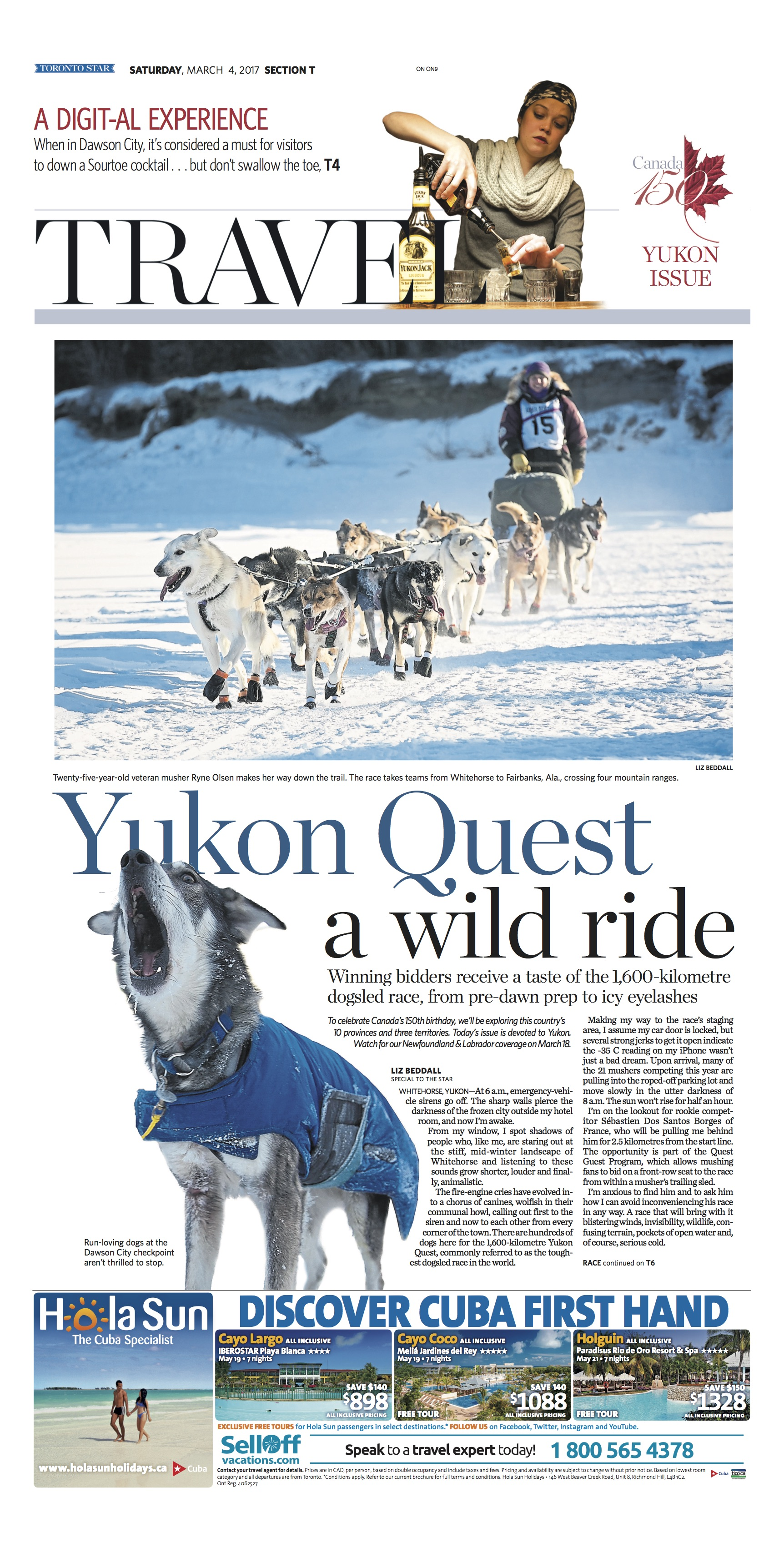 Whitehorse, Yukon: Mar. 4, 2017