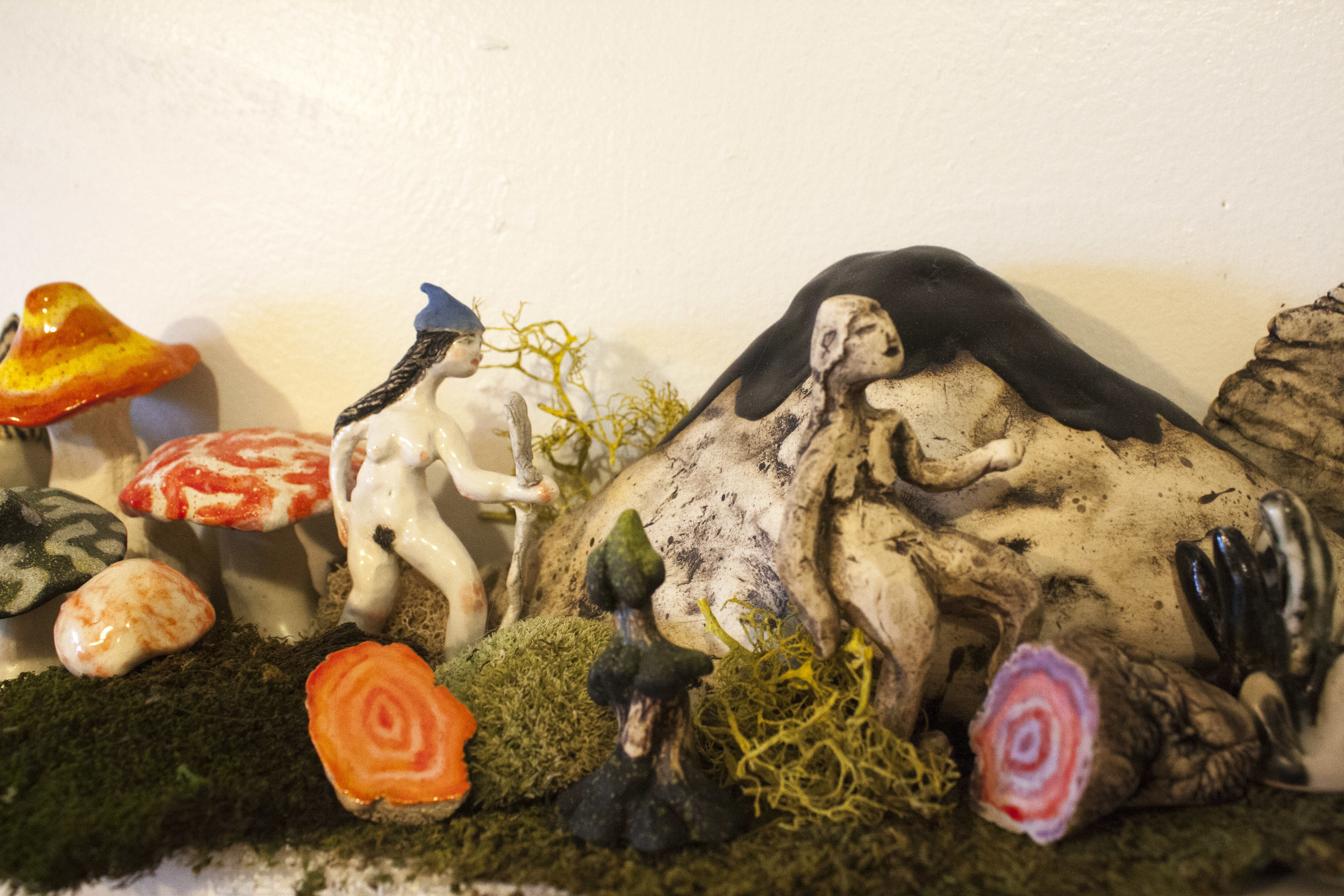 Some of the ceramic work featured at last fall's nuit blanche.