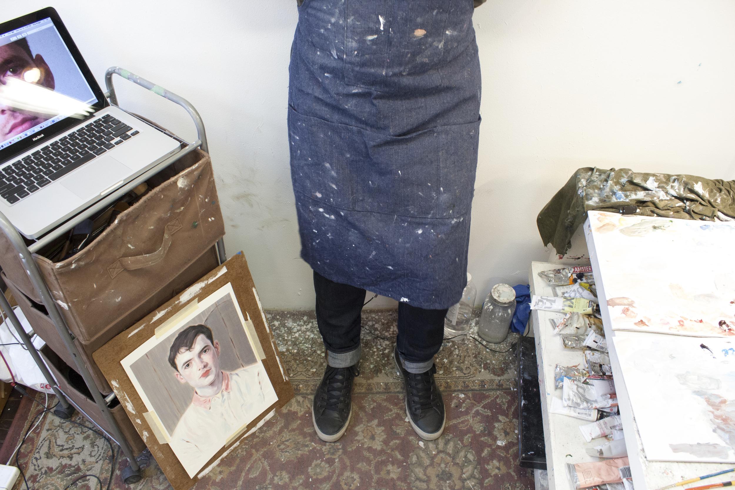 Kris in his painting smock.