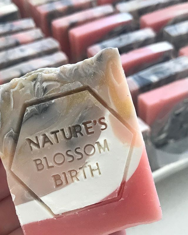 Picture your logo here 👆🏻 Custom soaps for @naturesblossombirth ! We love love love custom work. Details are up on stories or DM us for more info.