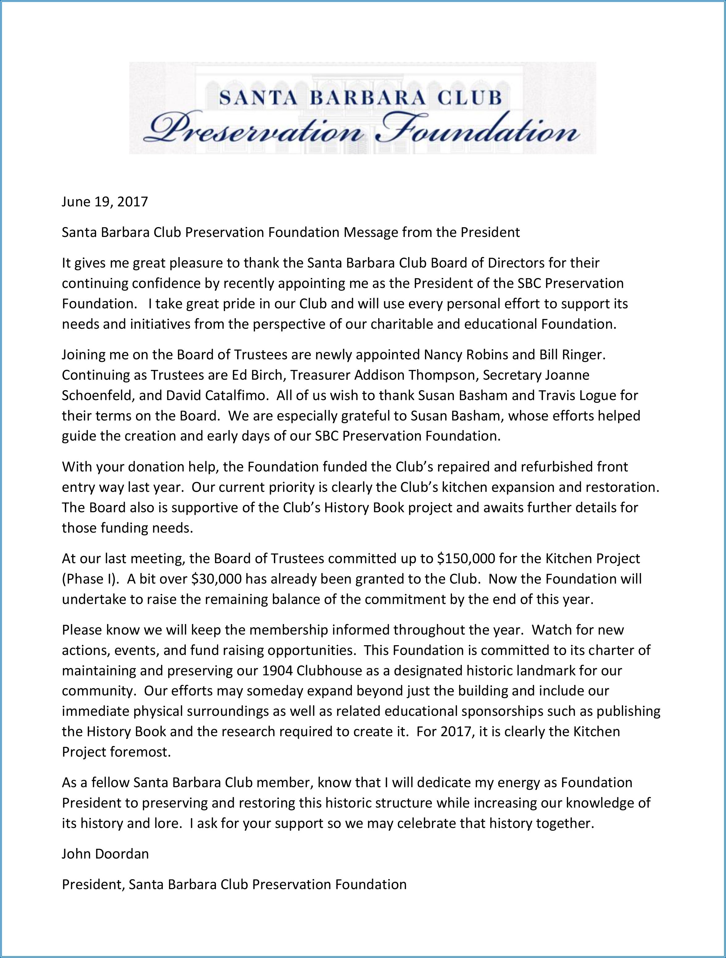 SBCPF Message from Foundation President John Doordan June 2017.jpg