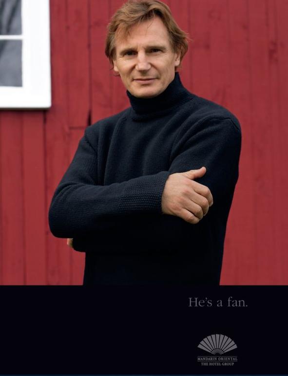 """Mandarin Oriential """"He's a fan."""" campaign."""