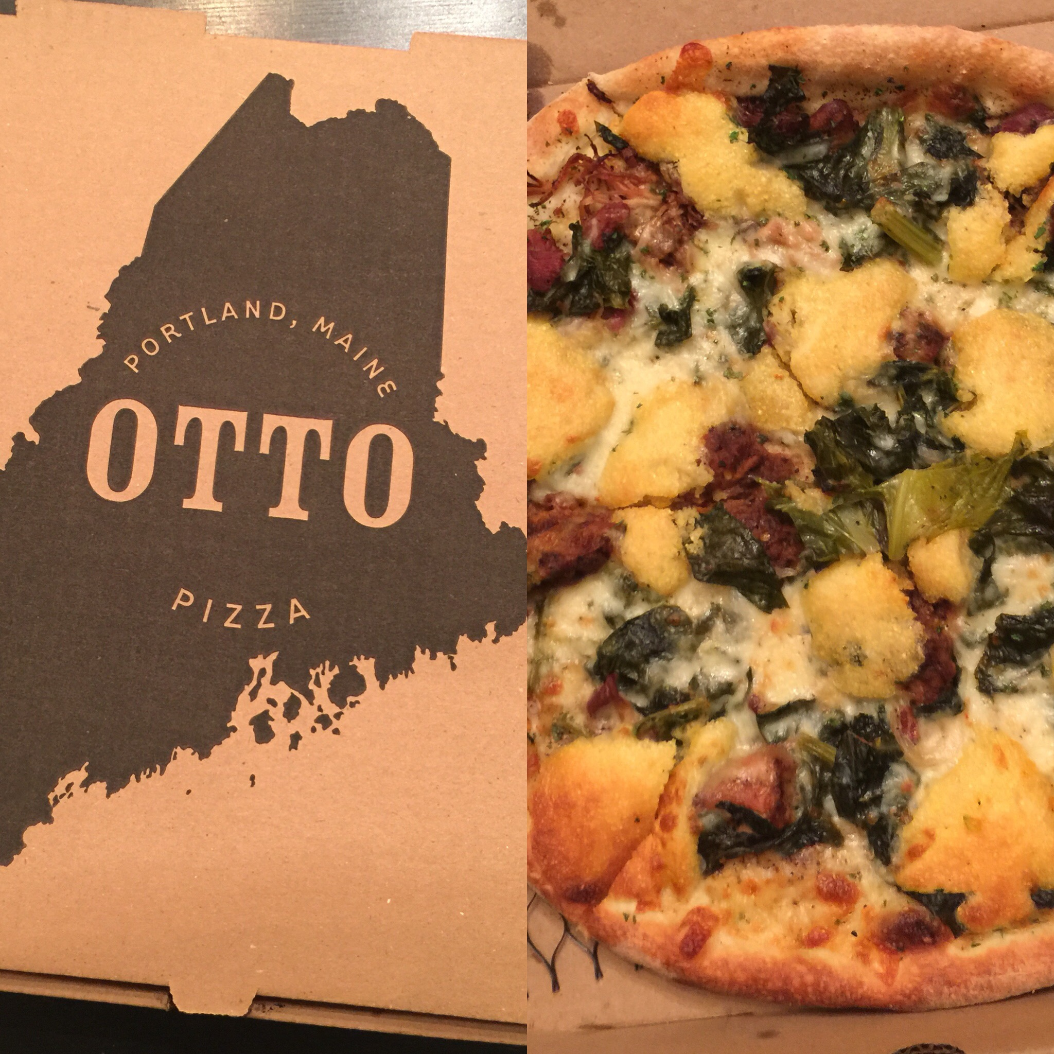 Otto Pizza's November Special: Cornbread, Pulled Pork & Collard Greens