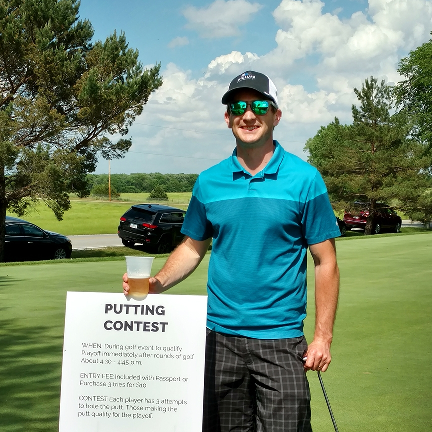 May 30, 2018   Congrats to Matt on his putting contest victory at the  Ronald McDonald House of Des Moines  Annual Golf Outing this afternoon. A day of golf and the chance to support a great cause? We call that a win-win. ⛳🍻