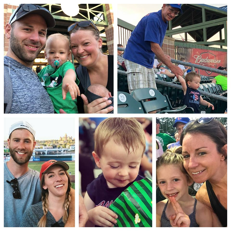 June 8, 2018   Peanuts, popcorn, and smiles all around from the Koester crew at Tuesday night's  Iowa Cubs  game! 🎟️🍿⚾