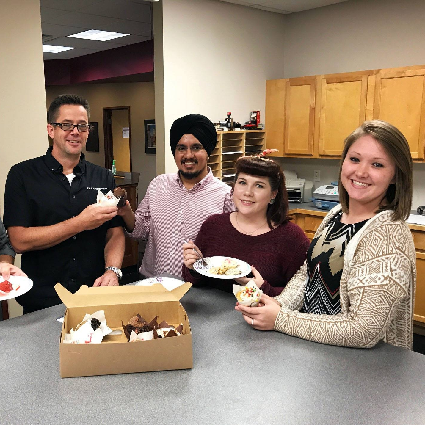October 10, 2018   Thank you to Iowa Demolition for dropping off a hump day pick-me-up for our team. Scratch Cupcakery did not disappoint. 🐪🍰