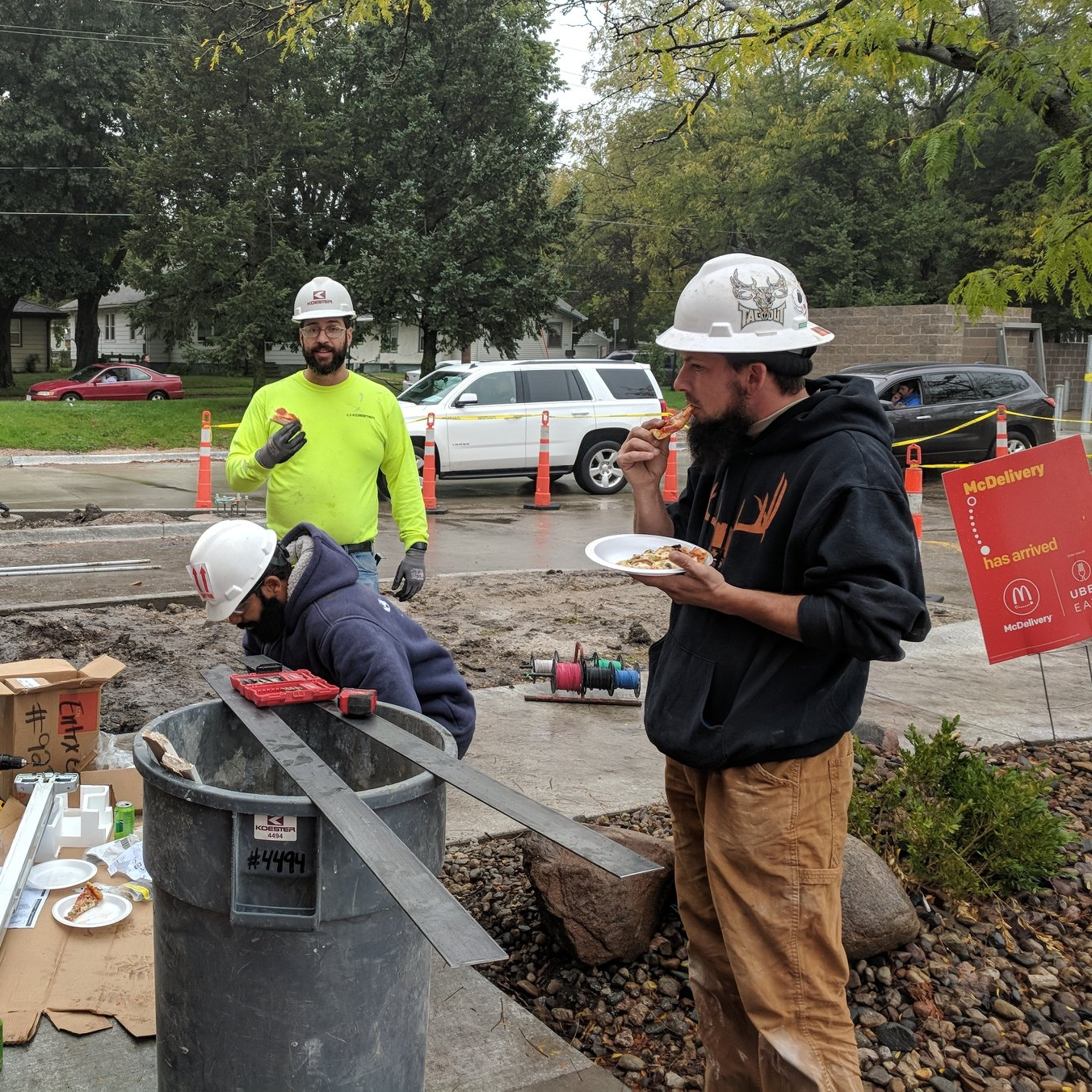 October 5, 2018   Our office delivered pizza to the field everyday this week in honor of #ConstructionWeek18. Happy Construction Week, everyone!