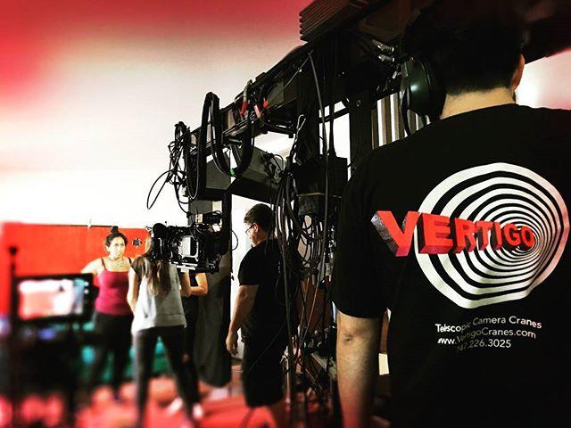 The Mini Technocrane making the best of small spaces. . . . . #camera #technocrane #supertechnocrane #dp #dırectorofphotography #gettheshot #producer #onset #setlife #bts #cinema #cinematography #photooftheday #cameraoperator #cameraassistant #hardwork #asc #alexa #production #productionlife #goals #gettingitdone #crew #filmmaking #movies #crewlife  #goodvibes #instagood #small