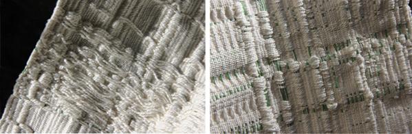 """Ancient Circuit Board."" 9″ x 35″ Handwoven art piece, 100% Cotton. San Francisco, 2010"