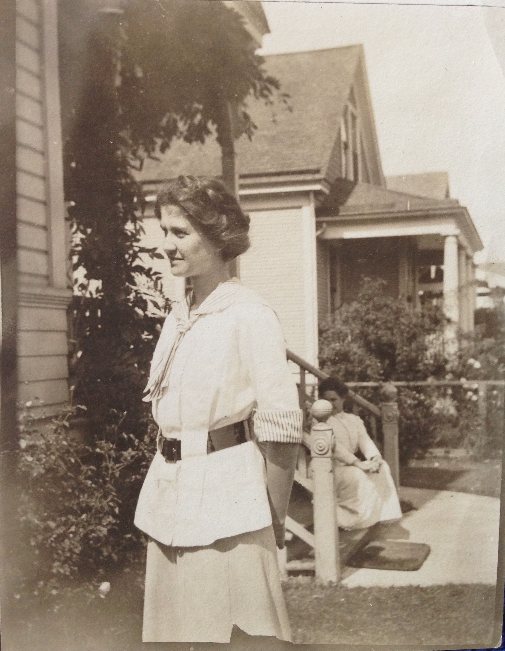 Lucile Boyd, my grandfather's aunt, in California. She contracted Tuberculosis and planned to travel to New Mexico to heal. She passed away a few weeks before the trip.
