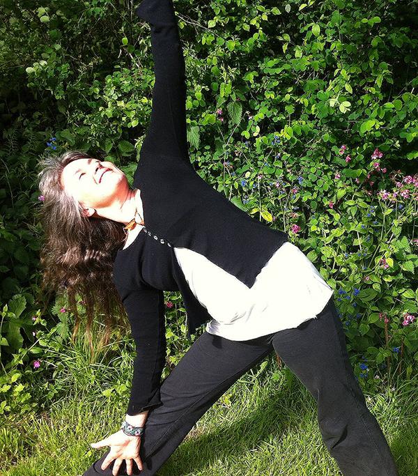 Nikki doing yoga on our UK detox retreats