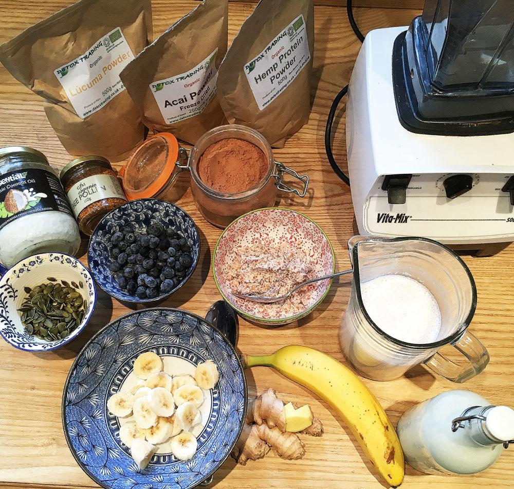 Hi-raw breakfast ingredients
