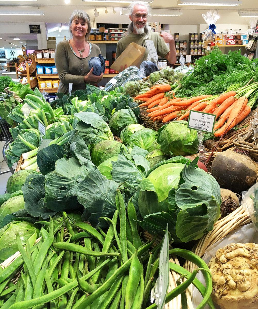 Fresh, raw, local organics