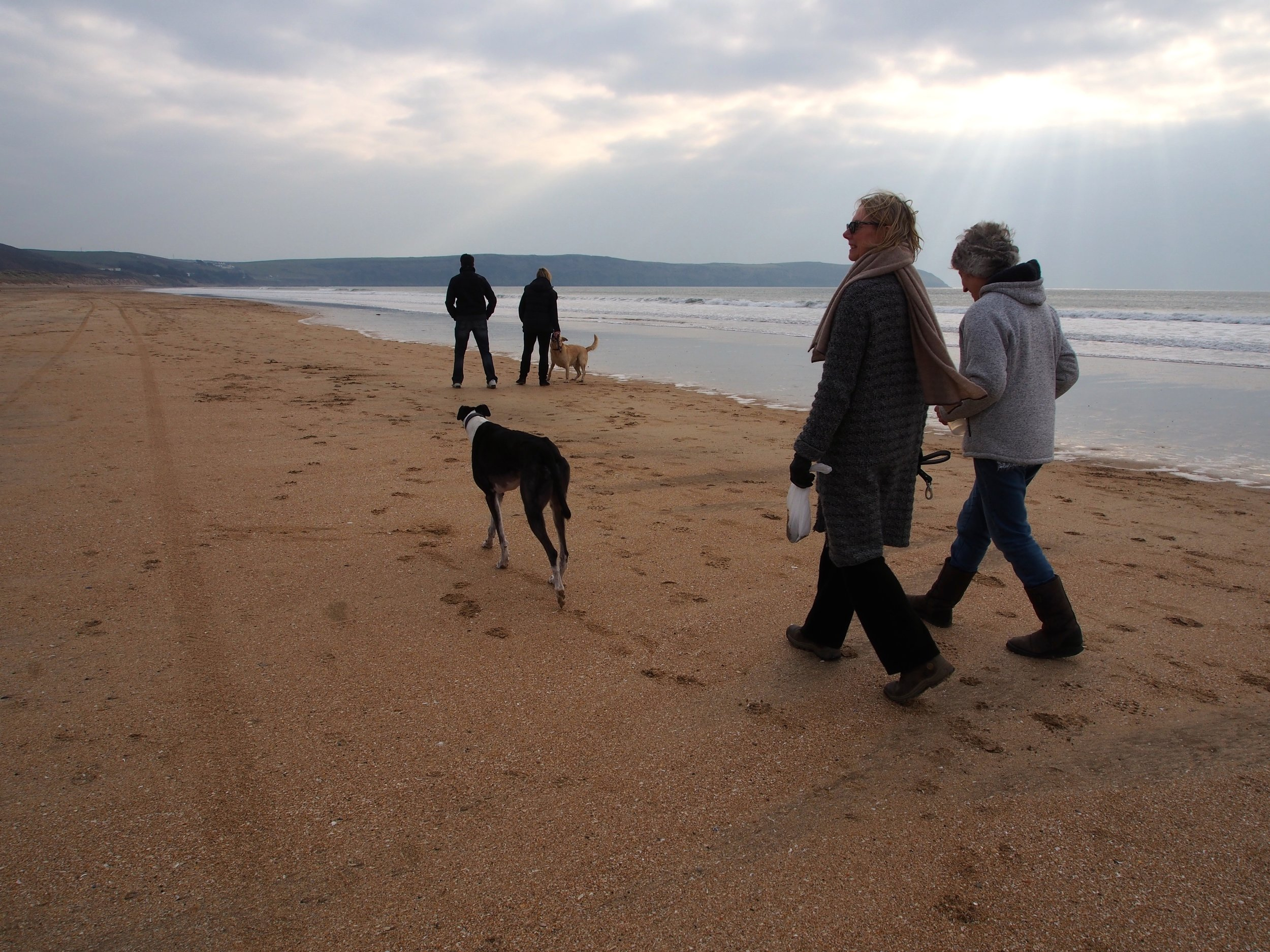 Beach and woodland walking  at our UK detox retreat
