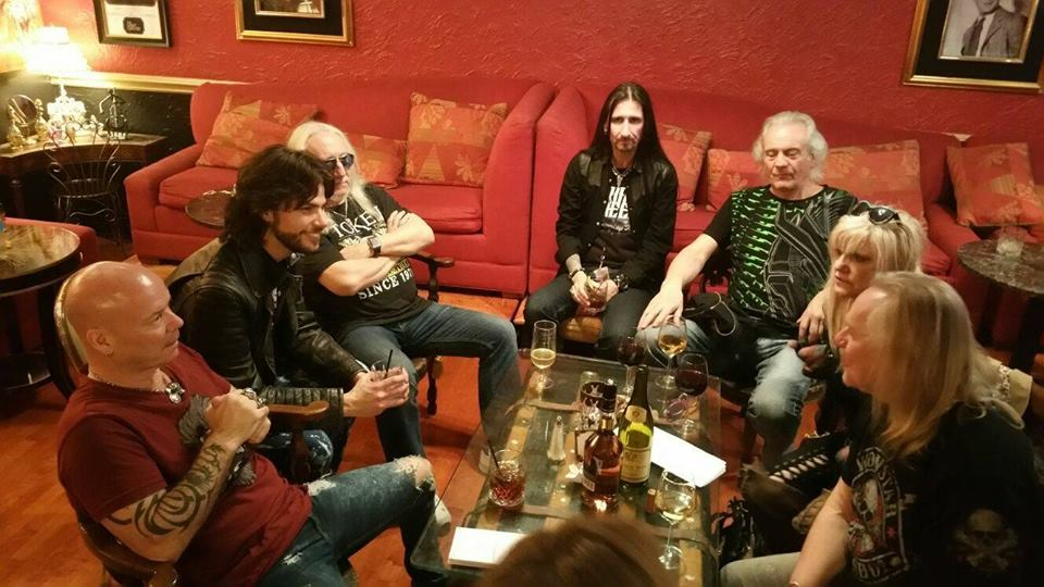 After Show drinks with Uriah Heep