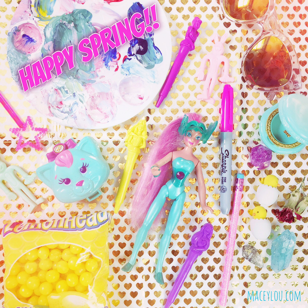 I posted this on Instagram this morning to celebrate spring and kawaii cute things...<3