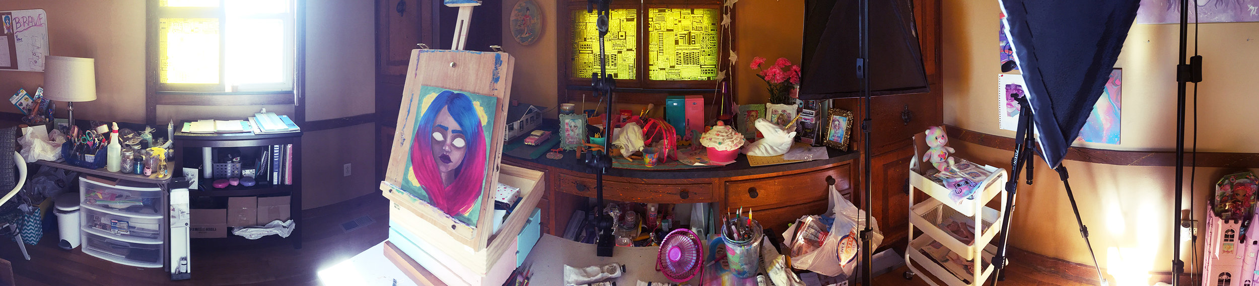 art studio maceylou work space artist tennessee 2