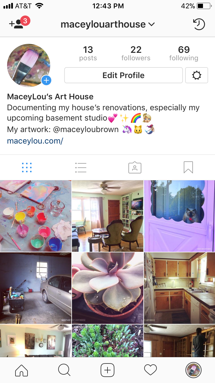 maceylou art house instagram screenshot