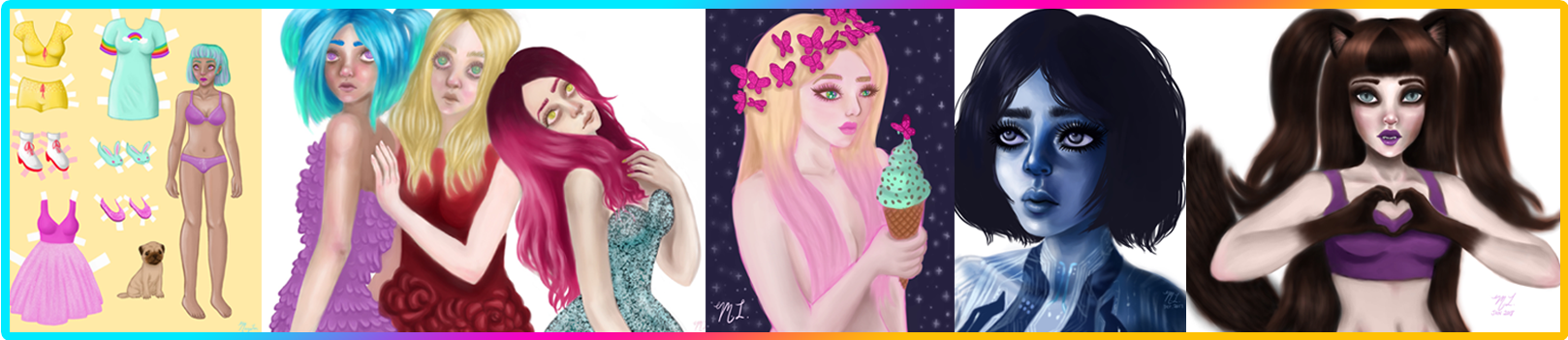 maceylou fantasy art digital art commissions header