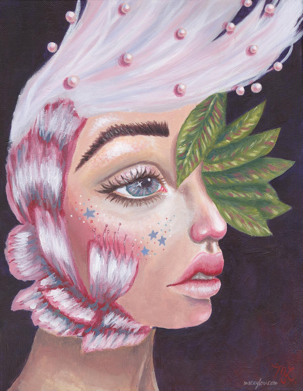 """Flora Femme"" Acrylic Painting"