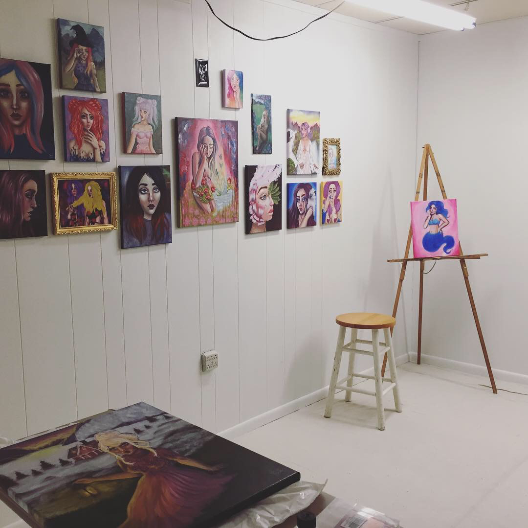 maceylou art studio work space oil paintings.jpg